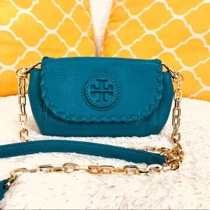 🌸OFFERS?🌸Tory Burch Whipstitch Teal Crossbody